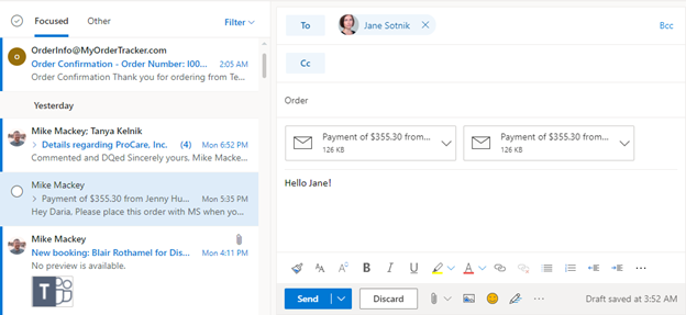 How to send an email as an attachment