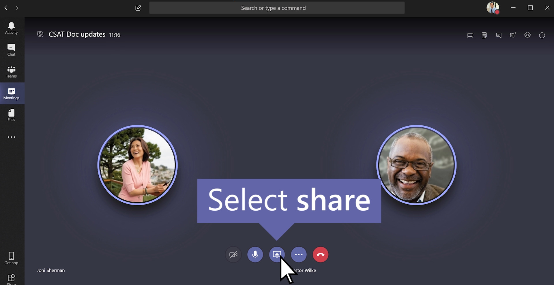 How to share your screen in Microsoft Teams
